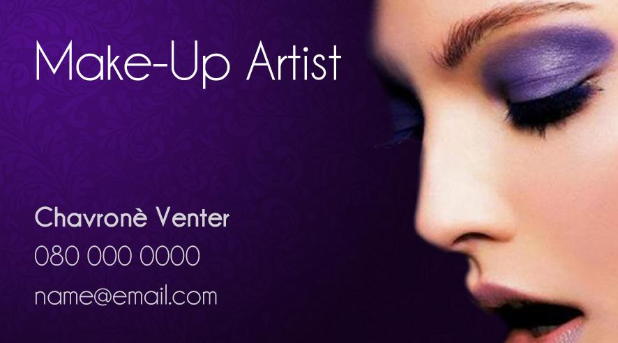 Business card design for make up artist snappingturtle blog if you need a business card or any other stationery designed colourmoves