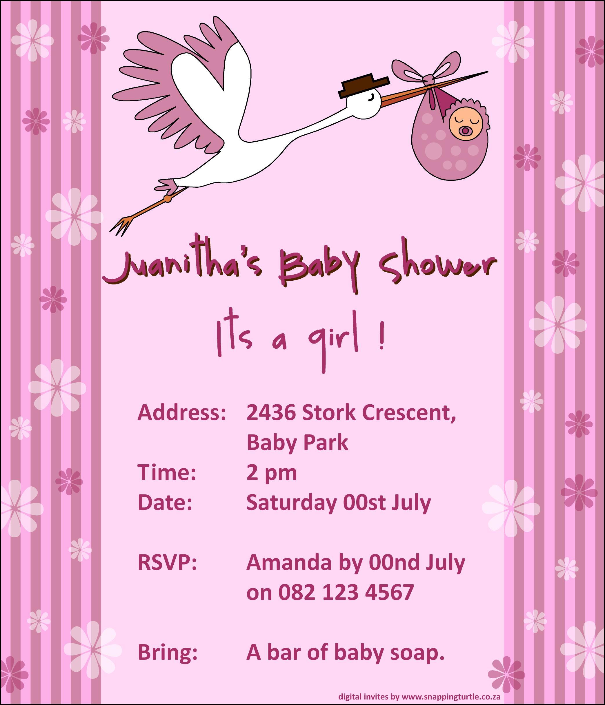 honeysuckle baby shower invitation swanky press baby shower